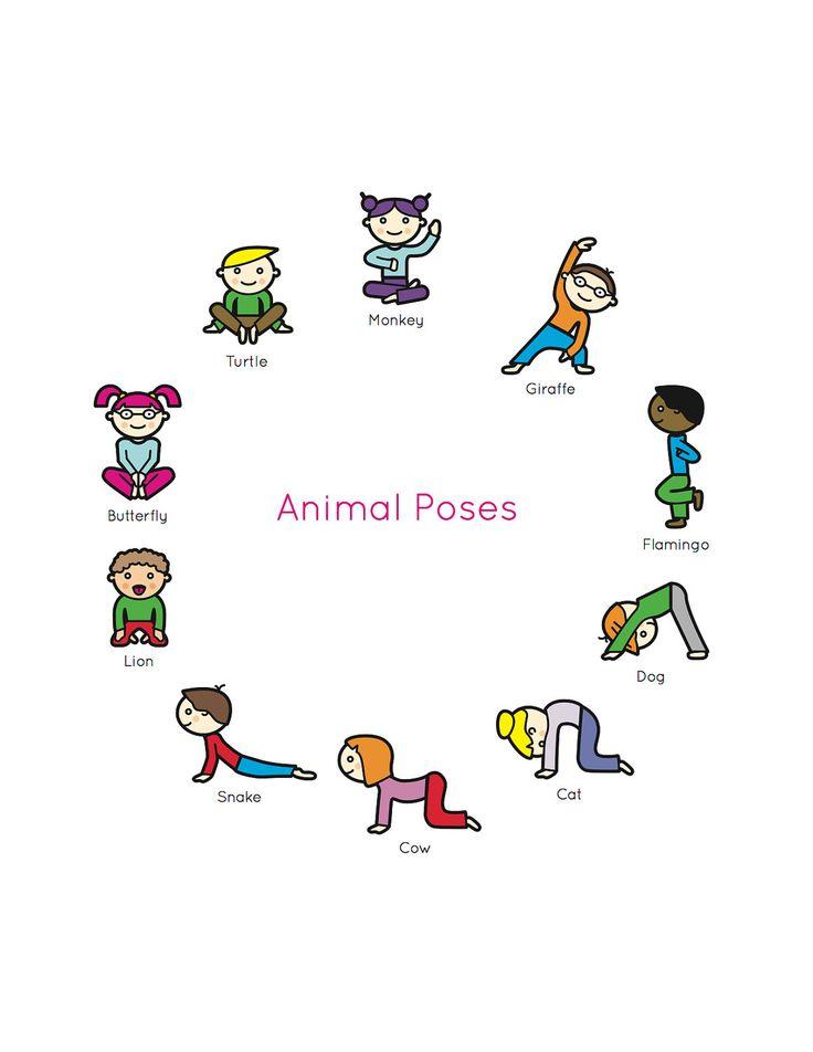 Kids Yoga Book: My First Yoga Animal Poses. $12.95, via Etsy.
