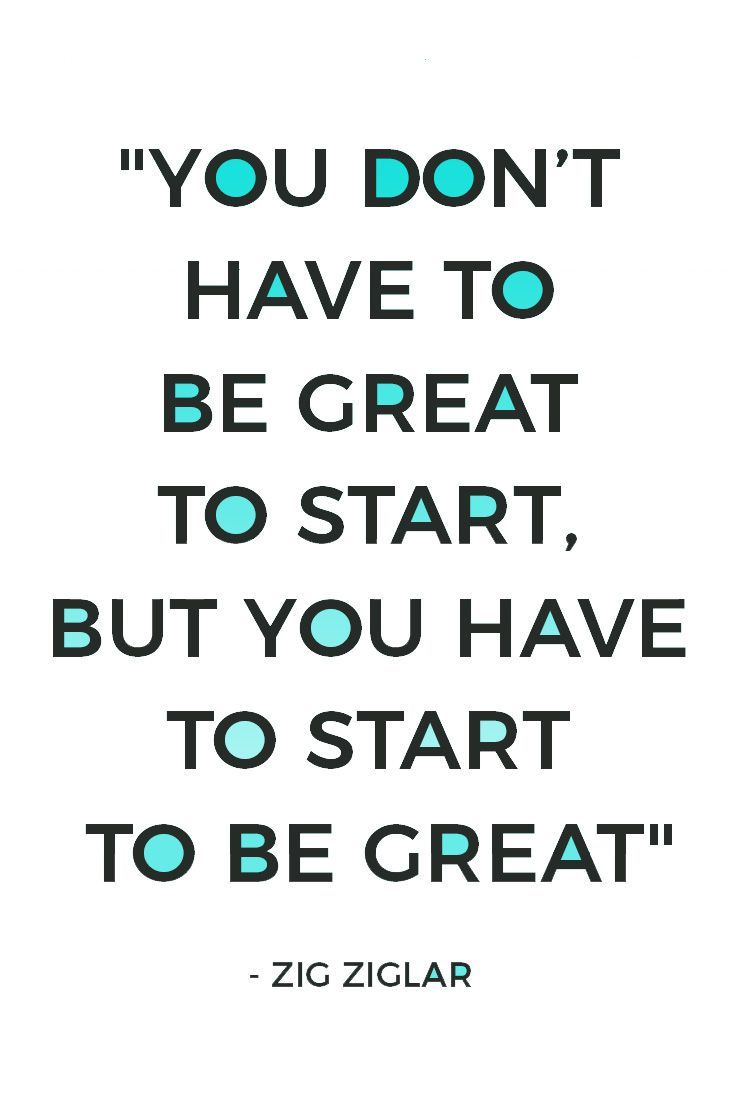 Stop holding on perfectionism and comparing yourself to others. Just get started...