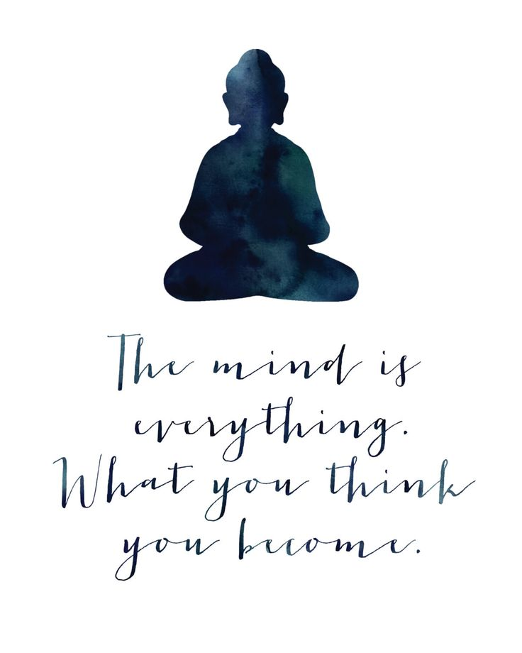 The mind is everything. What you think, you become. Buddha Each print is profess...