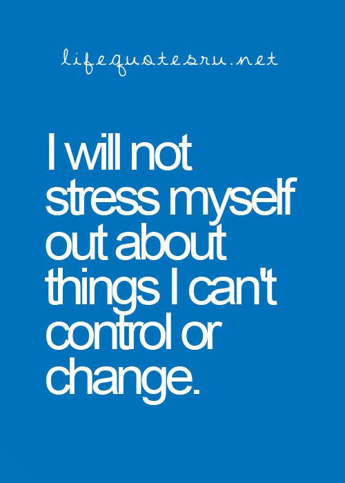 This was/is my resolution, and thankfully it has made my life So less stressful!...