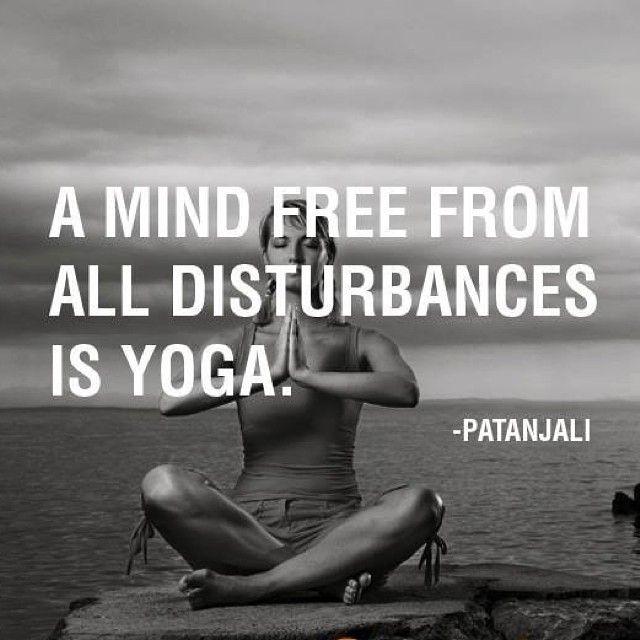 Una mente libre de todos los disturbios es yoga.