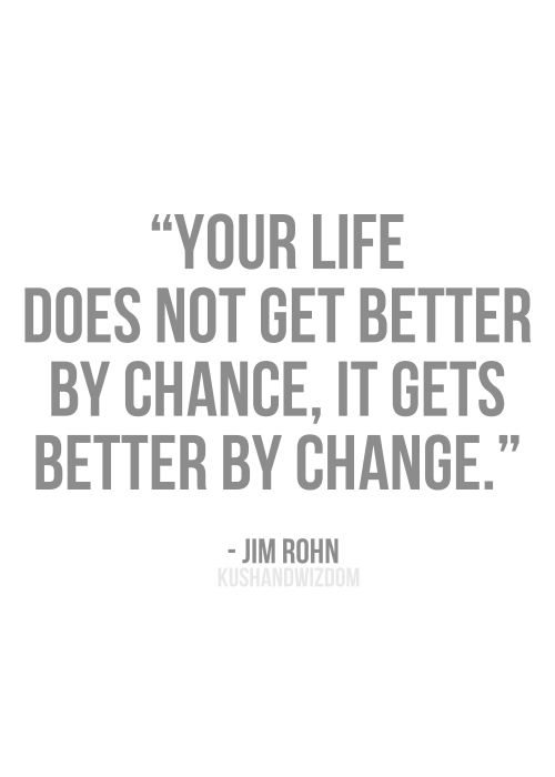 What are you changing this year?