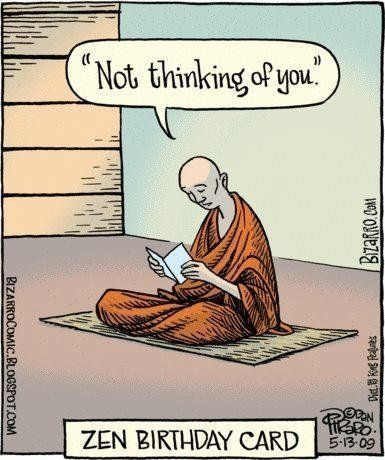 Yoga Funnies: Zen Birthday Card… From the new Downdog Diary Yoga Blog found ex...