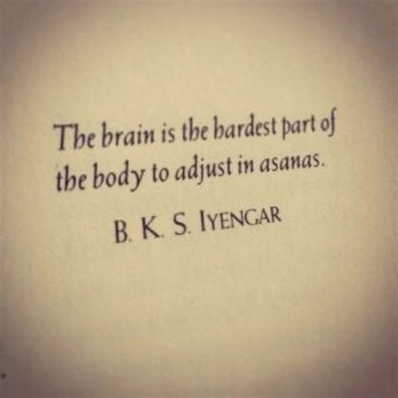 Yoga Inspirations: The brain is the hardest part of the body to adjust in asanas...