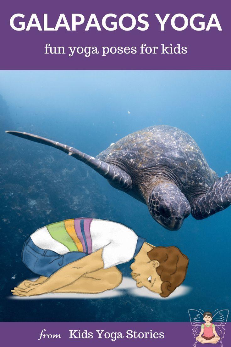 A Pretend Galapagos Trip through Yoga Poses for Kids