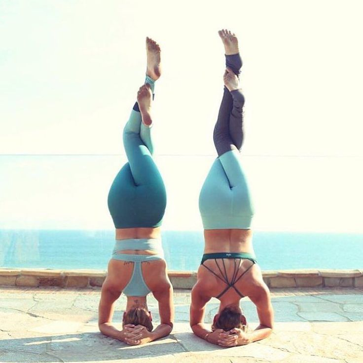 Double headstands by these two bestie beauties. @jessicaoile is featured in the ...