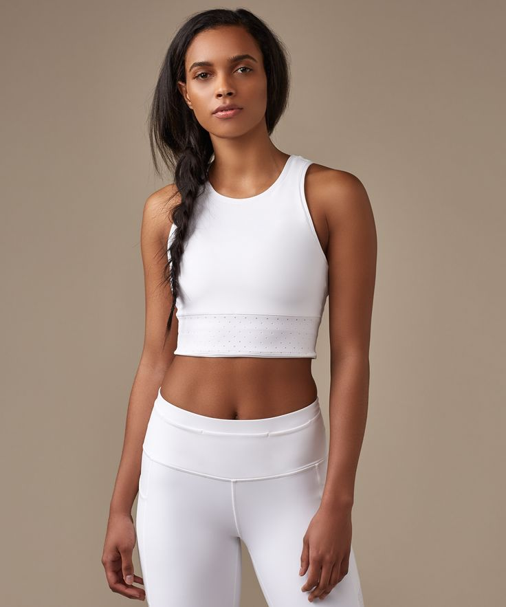 From treadmill to track, we designed this cropped tank to pair with to your favo...