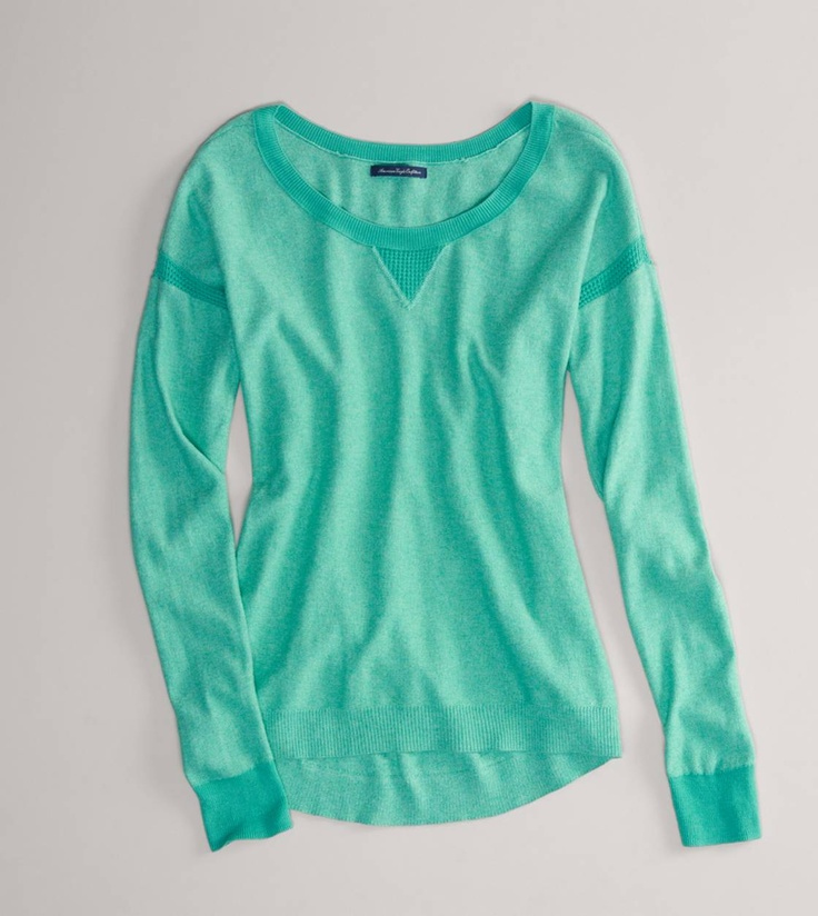 AE Pointelle Detail Sweater