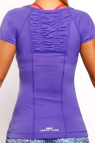 Balance Excel Tank in Blueberry. Just like the black Balance Excel Tank, it is m...