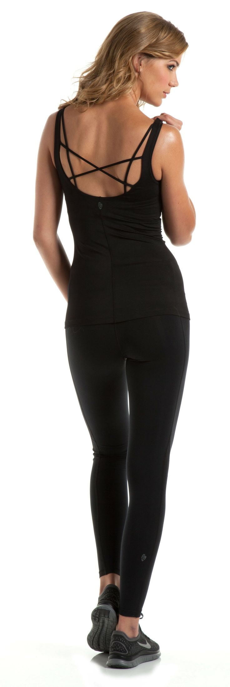 Black swan workout outfit. Love the back