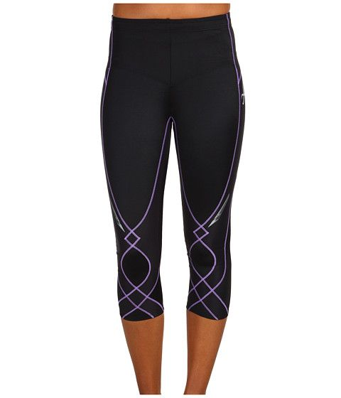 CW-X Stabilyx 3/4 Tight Black/Lavendar - awesome compression tights for knee - h...