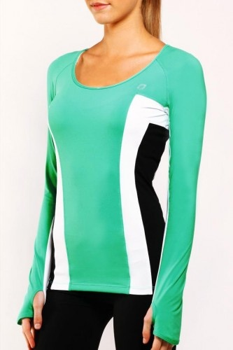 Elite Excel L/Slv Top in Neon Spearmint.  This looks like a winner - the mint co...