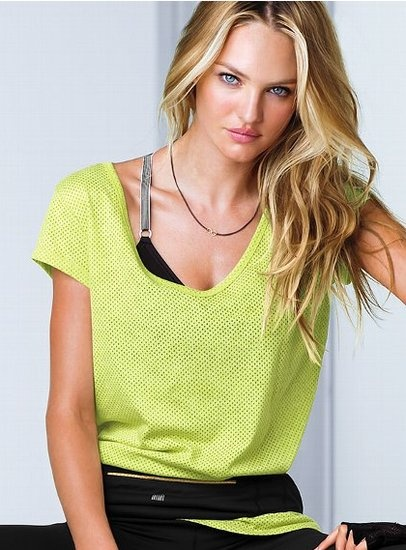 VSX Training Tee : The all-over perforation of this basic Victoria's Secret ...