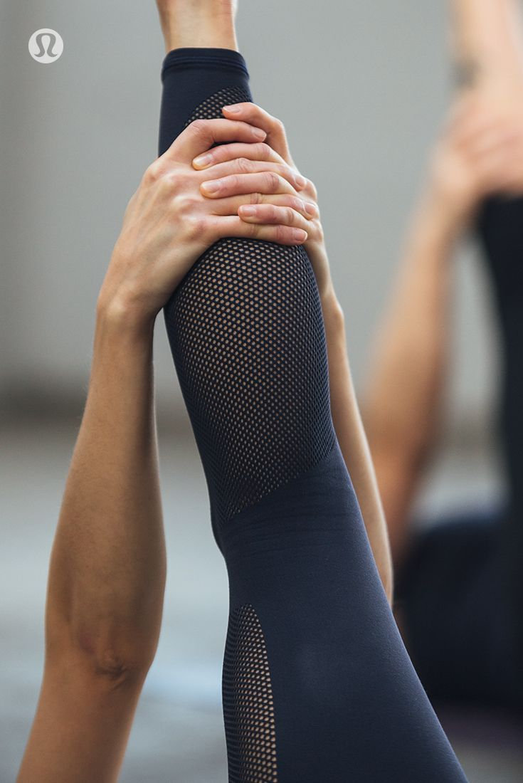 Integrated mesh fabric helps to keep you feeling breezy during your practice.
