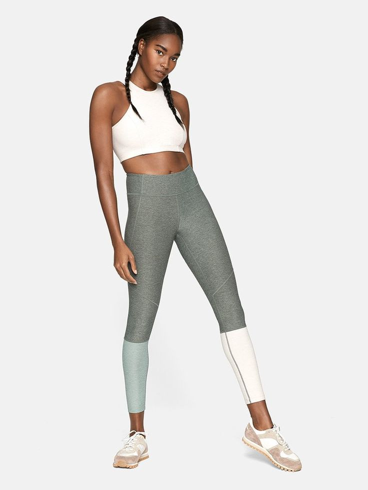 Midweight legging with colorblocked ankle detail and hidden waistband pocket. Ch...