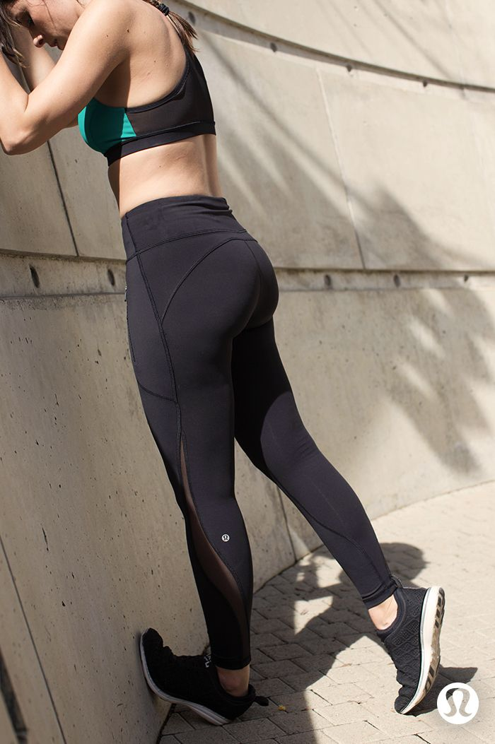 Squat, stride and stretch in the lululemon Invigorate Tight.