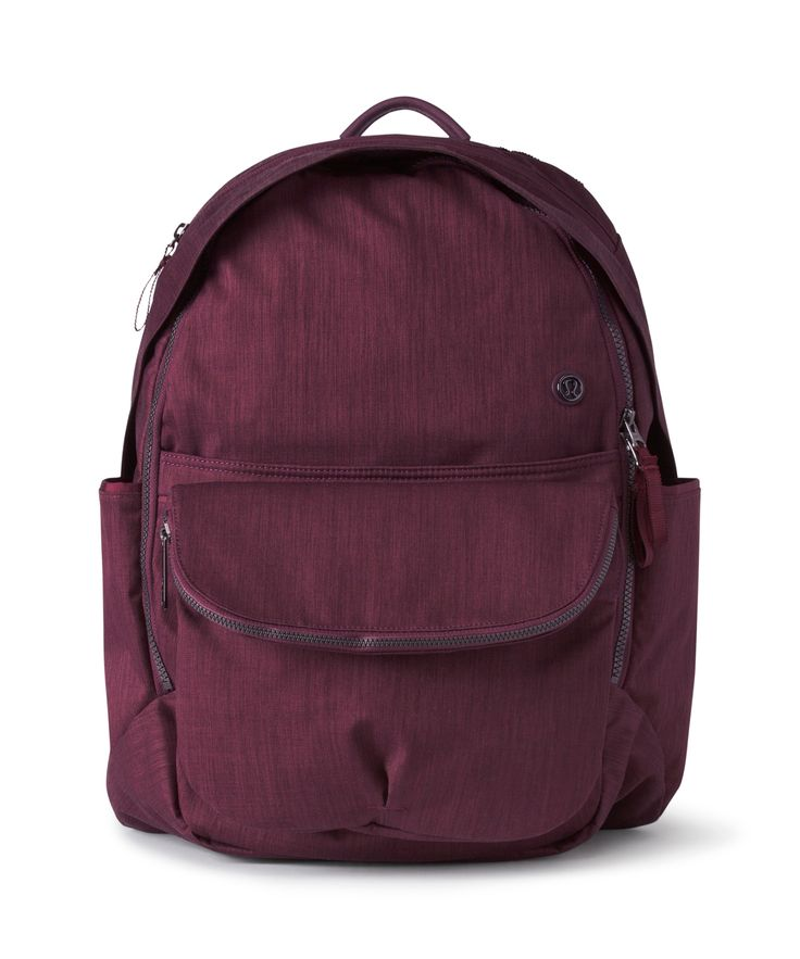 This backpack with removeable cross-body bag was designed to store all your stuf...