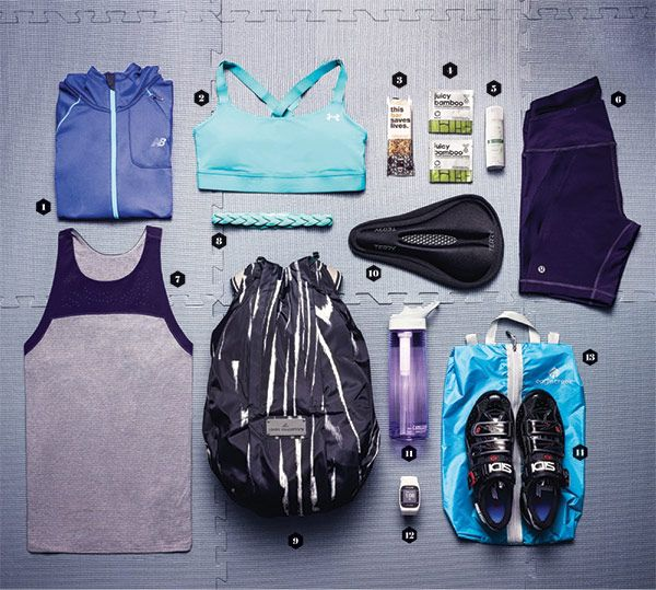 gym bag essentials for spinners #cycle #biking #spin