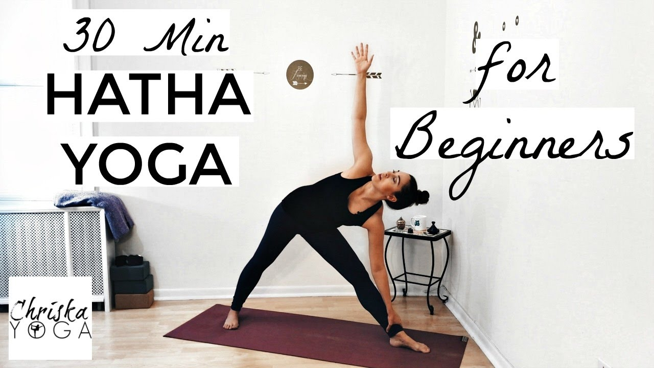 Yoga Poses : 30 Min Hatha Yoga for Beginners - Gentle