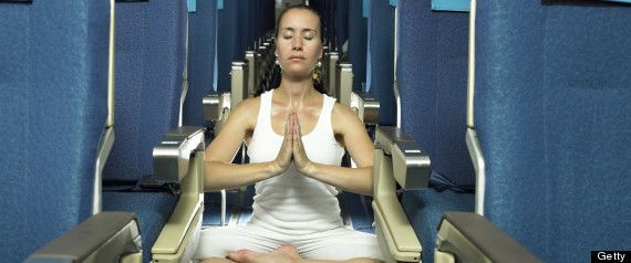 Airplane Yoga: 7 Poses To Try On Your Next Long Flight on Huffington Post by Car...