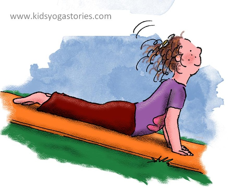 Cobra Pose  (Image from Anna and her Rainbow-Colored Yoga Mats - www.kidsyogasto...