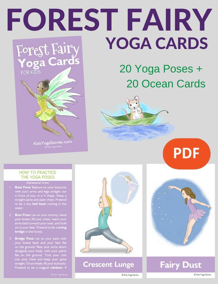 Forest Fairy Yoga Cards for Kids | Kids Yoga Stories