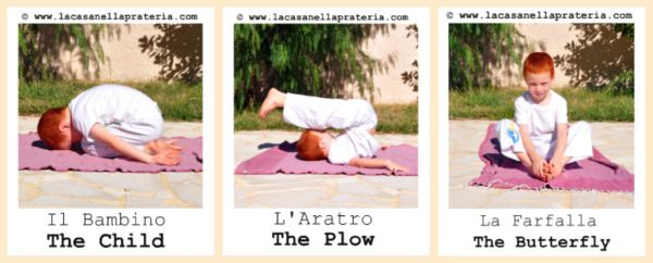Free bilingual printable yoga cards