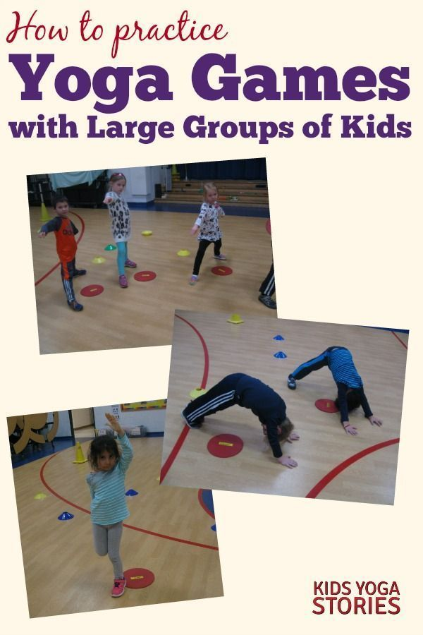 How to Do Yoga Games with Large Groups of Kids