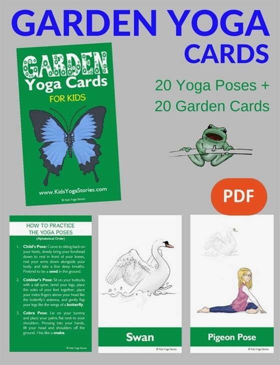 Learn about the garden through simple yoga poses! Pretend to be a butterfly, bir...