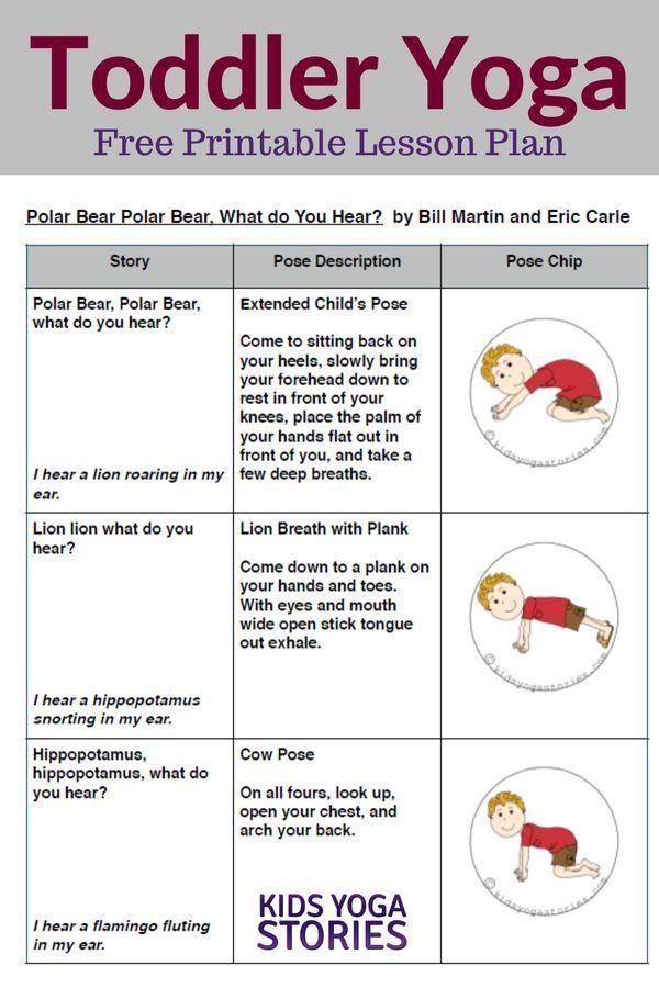 Polar Bear, Polar Bear, What Do You Hear? Toddler Yoga Lesson Plan   Kids Yoga S...