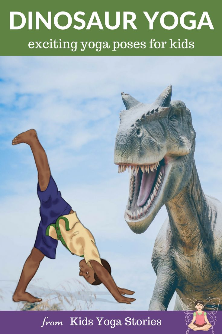 Pretend to be a dinosaur through prehistoric dinosaur yoga poses.  Learn about d...