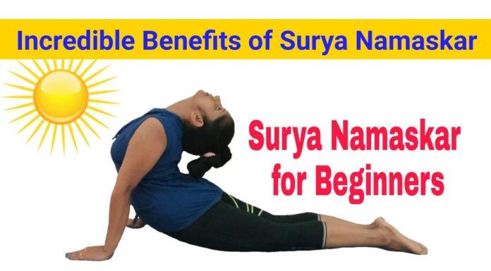 Yoga Poses STEP BY SURYA NAMASKAR FOR BEGINNERS Learn Sun Salutation YogaWithGauri