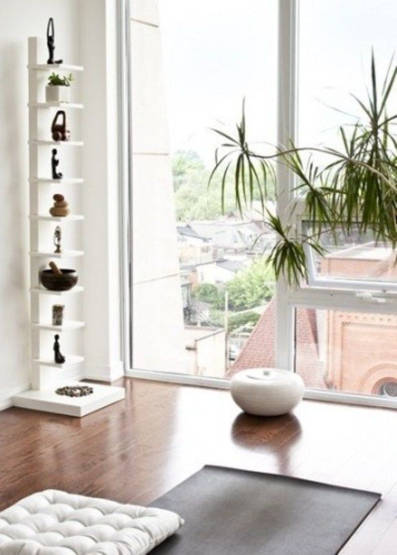 How To Create A Yoga Space In Your Home. One of those tips better be to add a be...