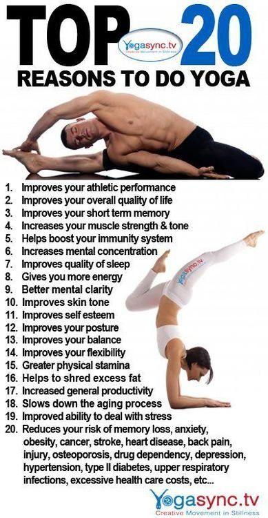 20 Reasons why it is good to practice yoga. [ SkinnyFoxDetox.com ] #yoga #skinny...