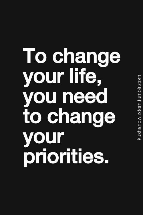 Change  Ur Priorities...