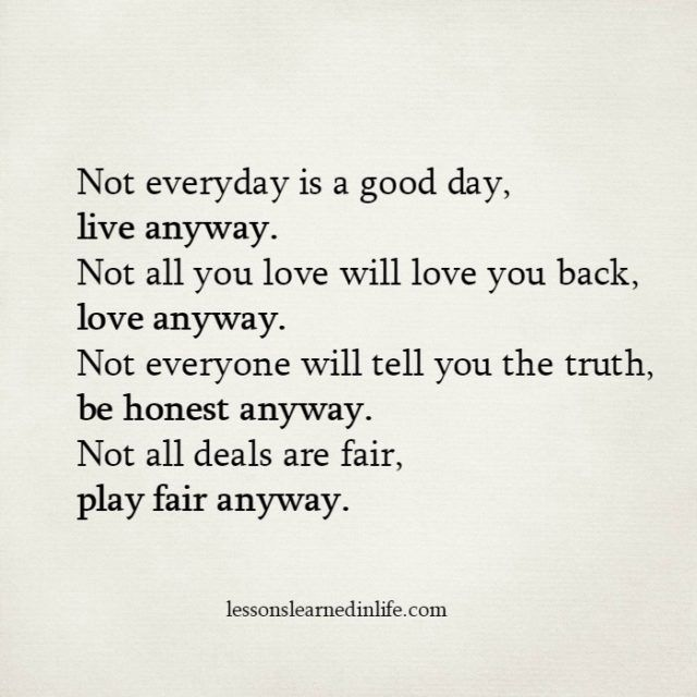 Lessons Learned in Life   Anyway.