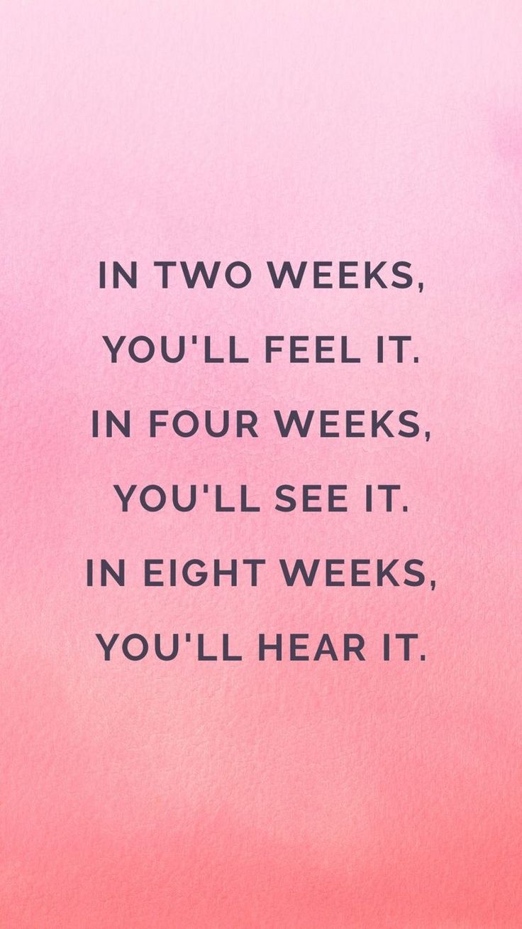 Needed this reminder today. I'm at week 2 and feeling it, but was discourage...