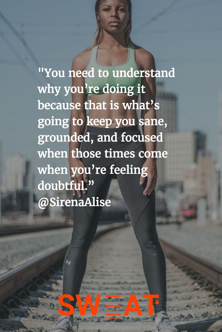 Sirena Alise talked to SWEAT Magazine about her mindset as she approaches her pe...