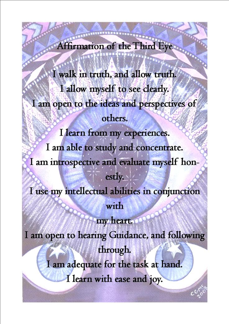 Third Eye Affirmations: pic and words found online. balancedwomensblo...