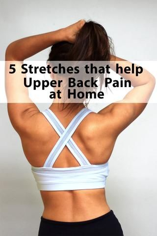 5 Stretches to Help Upper Back Pain at Home -- Plexus Co. relieve your upper bac...