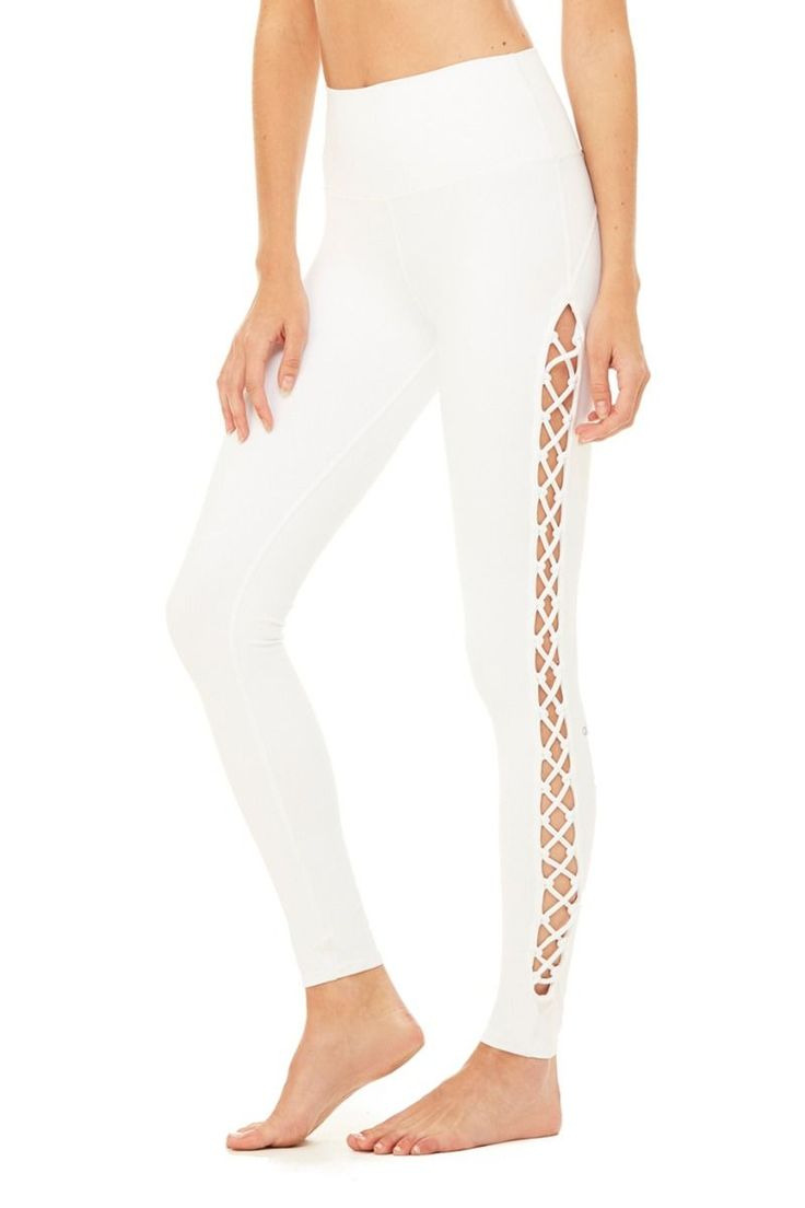 High-waisted for the most flawless fit, the Interlace Legging is bound to be you...