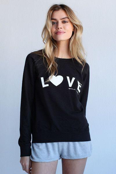 LOVE SUMMER SWEATSHIRT BLACK