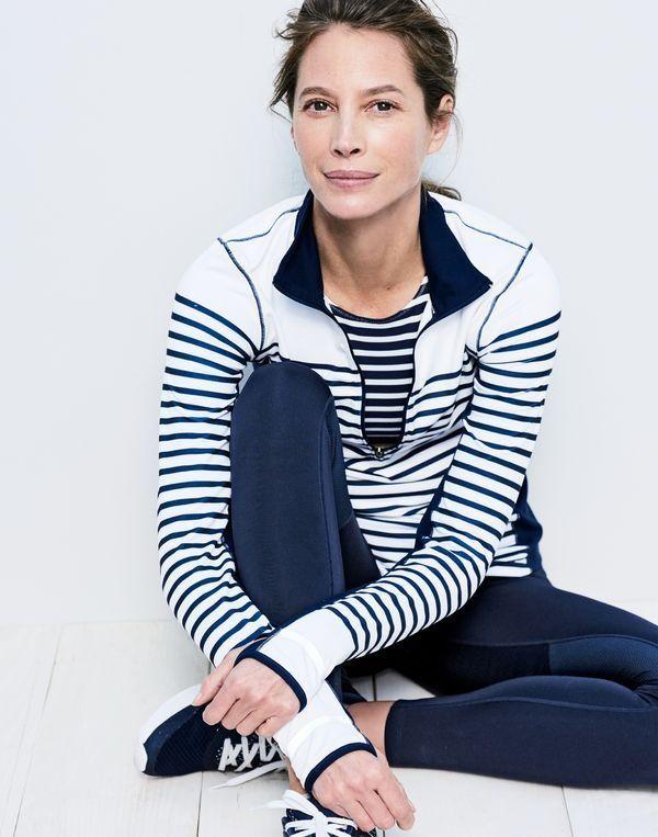 New Balance® for J.Crew in-transit pullover in stripe, J.Crew women's striped...