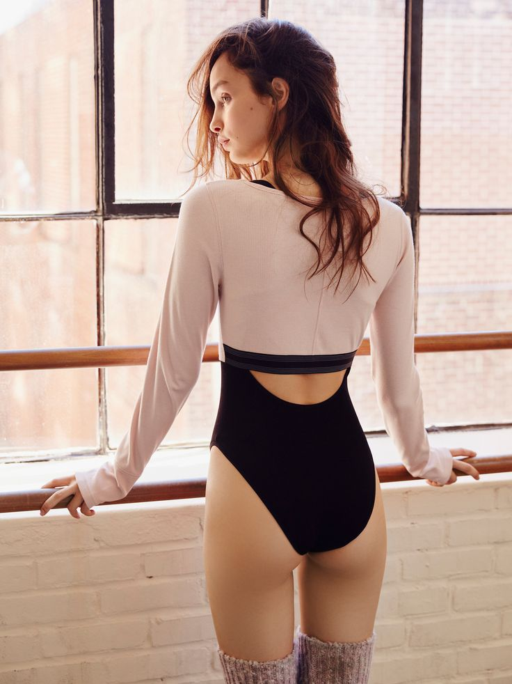 New Wave Crop | Long sleeve crop top with a super stretchy ribbed fabrication. F...