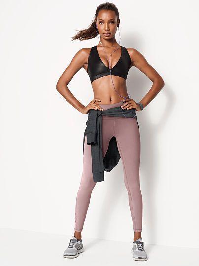 Plunge Shine Sport Bra FitnessApparelExp... ♡ Women's Workout Clothes | Yoga T...