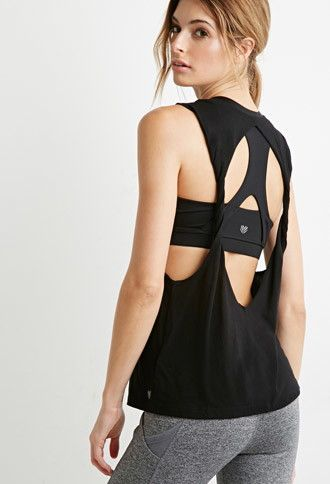 Twisted Open-Back Muscle Tee | Forever 21 | #f21active