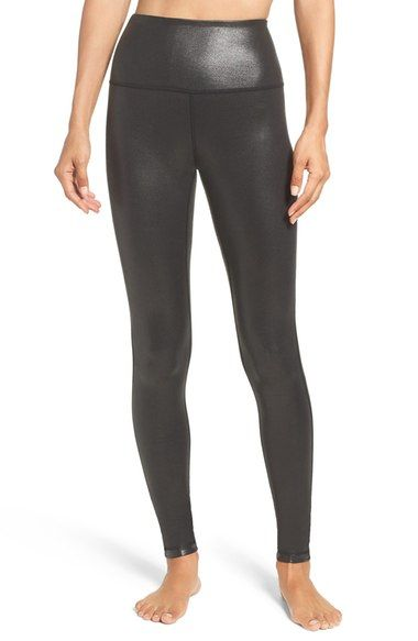 Zella Live-In High Waist Leggings - black laminate - small (Online Only) availab...