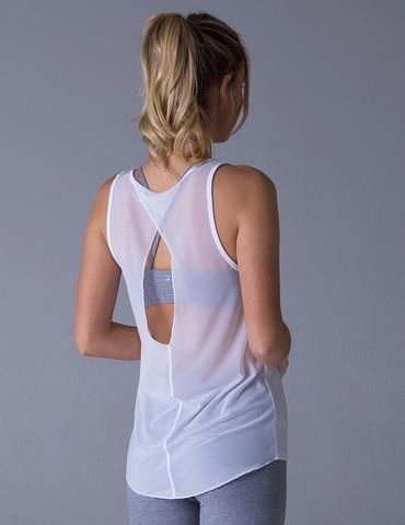 #glyderapparel #yoga #tank #drifter #backless #white #yogaclothes #pilates #trai...