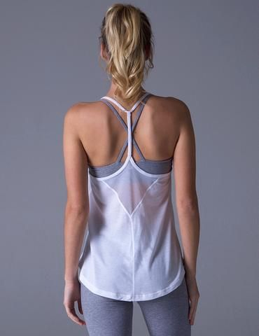 #glyderapparel #yoga #tank #freeflow #racerback #white #yogaclothes #pilates #tr...