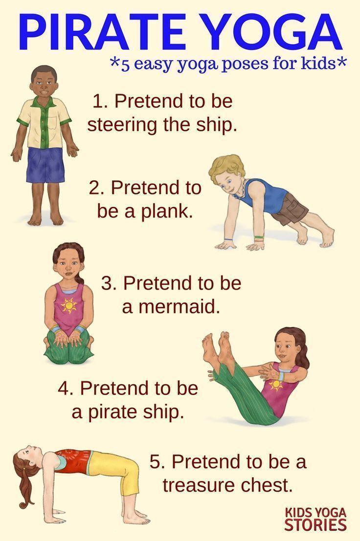 5 Pirate Yoga Poses for Kids - to explore the pirate world through movement   Ki...